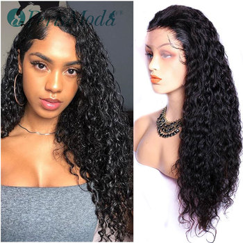 AliExpress - 6SALE:  Synthetic Lace Front Wigs for Black Women Water Wave Wigs PerisModa Long Black Hair Extensions Heat Resistant Fiber Cheap Wigs