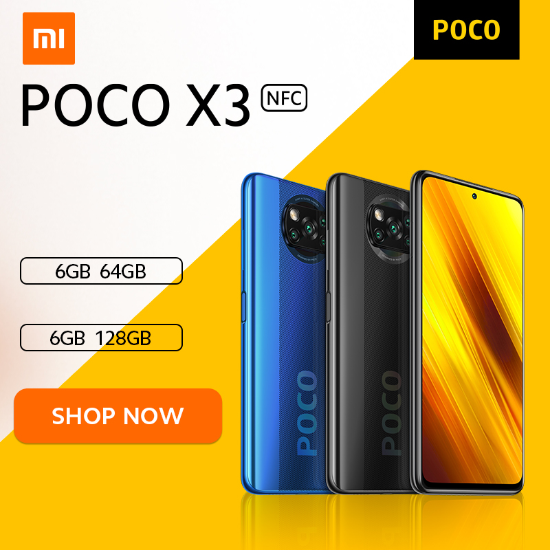 [World Premiere Flash Sale In Stock] POCO X3 NFC Global Version Snapdragon 732G Xiaomi Smartphone 64MP Camera 5160mAh 33W Charge|Cellphones| - AliExpress