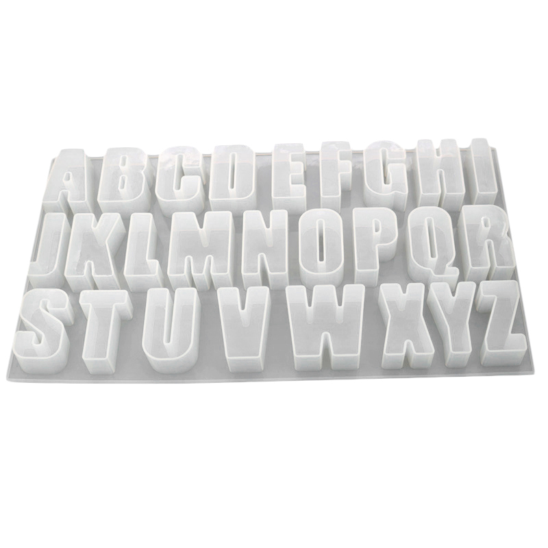 Capital Letter Mold Mirror Handmade Pendant Silicone Mold Creative Jewelry Mold DIY Crystal Epoxy Mold