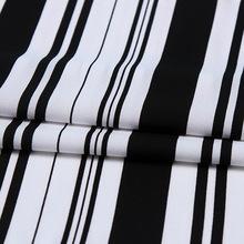 Czarno-białe spodnie z tkaniny szyfonowej w pionowe paski tanie tanio vonichy Tkane CN (pochodzenie) Oddychające Szyfon tkaniny warp 150cm Tkaniny aramidowe 100 poliester PRINTED Zwykły Izolowana termicznie bonded