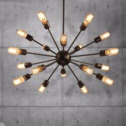 Lampy sufitowe satelita metalowy kształt jadalnia restauracja luminaria de teto lampa sufitowa vintage oprawy oświetleniowe|Oświetlenie sufitowe|   -