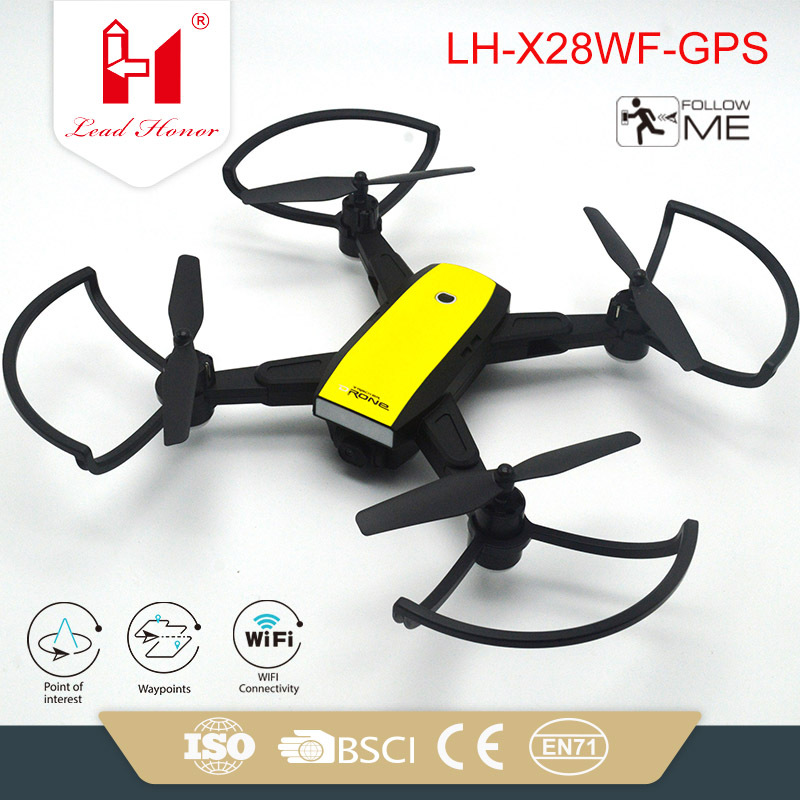 Lh-x28gwf Foldable Smart Hover Real-Time Transmission Axis And Four Aircraft Double GPS Unmanned Aerial Vehicle Aerial Photograp