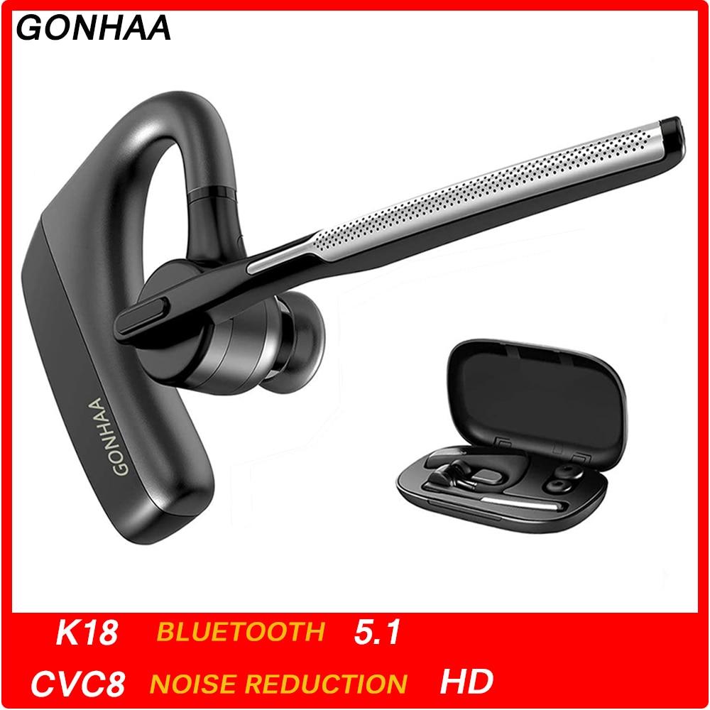 Écouteurs Bluetooth sans fil Bluetooth casque HD avec CVC8.0 double Microphone fonction de réduction du bruit adapté au téléphone intelligent