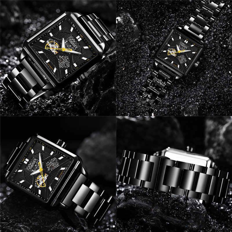 Reloj mecánico automático hombre OUBAOER marca superior de lujo de acero inoxidable relojes de hombre militar deporte esqueleto reloj masculino caliente 2019