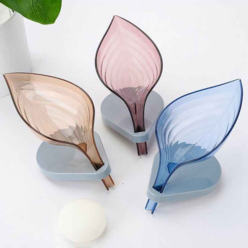 Bathroom Decor Leaf Shape Hollow Soap Holder Drainage Storage Holder Container Bathroom Accessories