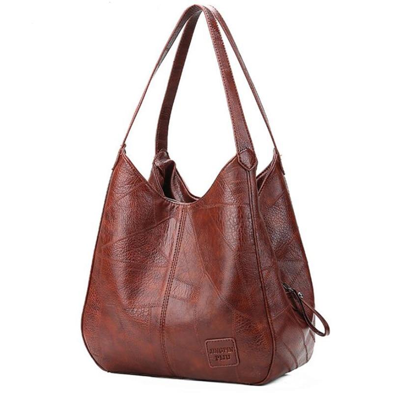 Vintage Shoulder Bag Female PU Leather Womens Bag Designers 2021 Luxury Totes Fashion Top-handle Bags Travel Bag for Ladies 1