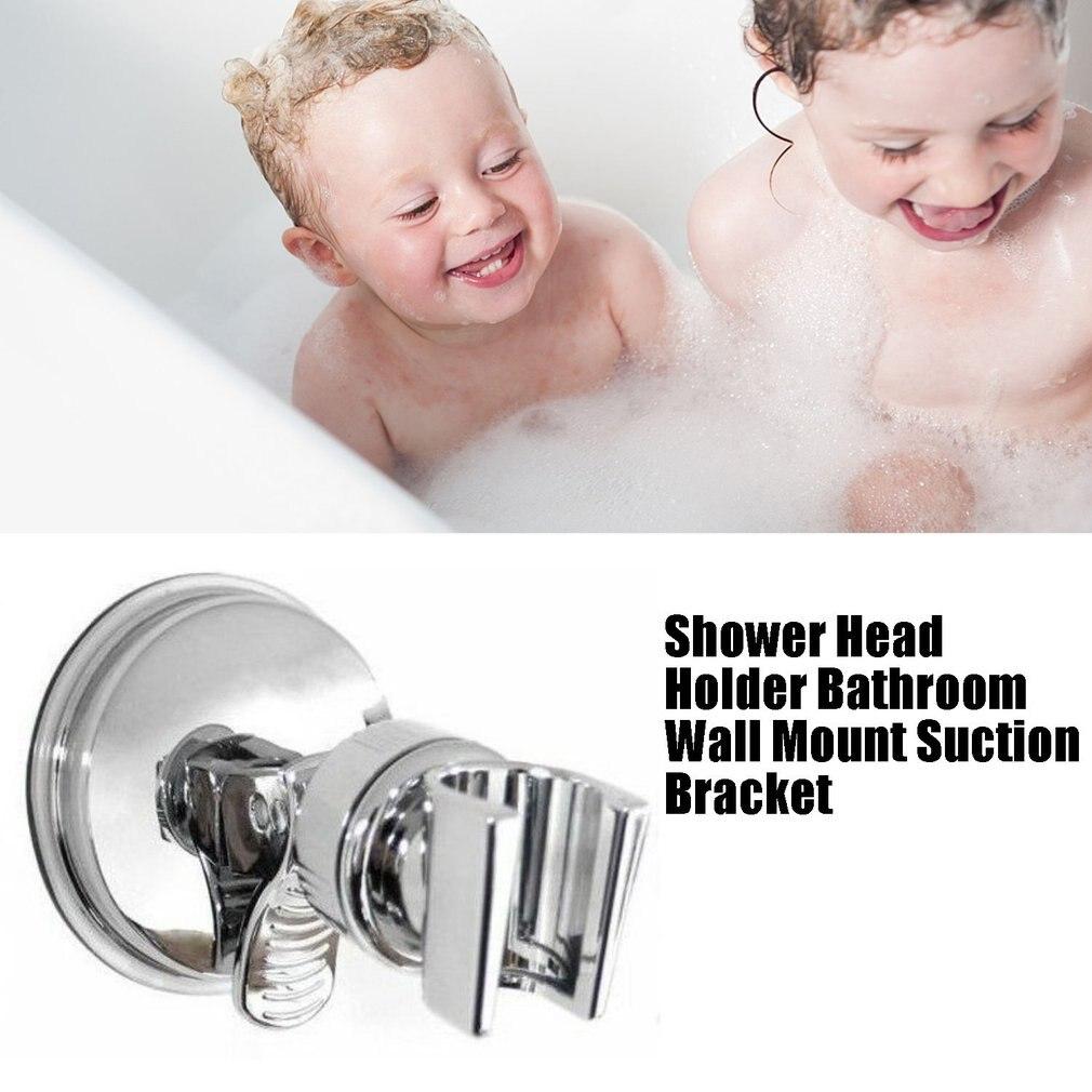 Серебро душ головка держатель ванная стена крепление присоска кронштейн присоска чашка душ держатель ванная аксессуары