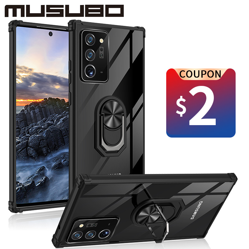 Musubo Case For Samsung Galaxy S21 Ultra S20 S10 S9 Funda Note 20 Ultra S20 a71 A70 A51 A50 A52 A72 Armor Back Cover Transparent