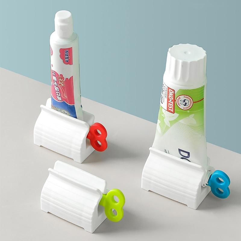 Wonderlife Bathroom Accessories Set Rolling Toothpaste Squeezer Tube Toothpaste Tooth Paste Squeezer Dispenser Toothpaste Holder