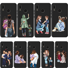 Fashion Baby Mom Girl Super Dad Case For Huawei p20 Pro P20 P30 P9 P8 Mate 20 Lite Honor 8X 9 10 PSmart Cover