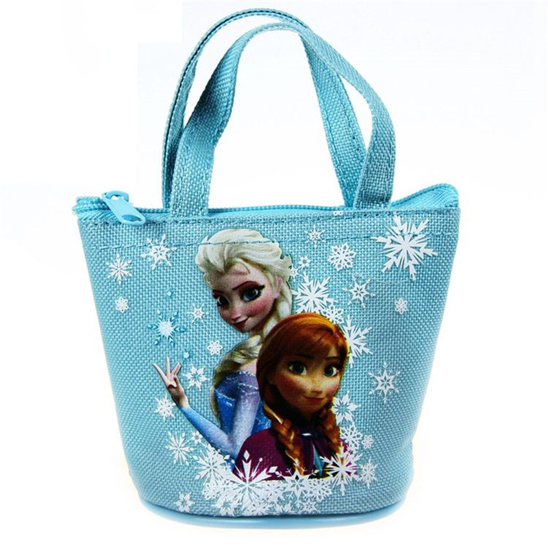 Disney Children Cartoon Coin Purse Frozen Elsa Coin Bag Girl Boy Gift Mini Canvas Handbag Storage Kid Anna Mini Make Up Bag