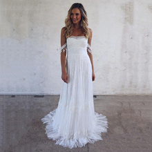 Beach Wedding Dress 2019 Lace Strapless Sexy Bride Backless Vestido De Novia Gowns Lorie gowns