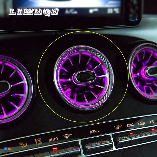 Турбина выход светодиодный свет для W205 GLC Mercedes benz C класса GLC передний Кондиционер Вентиляционный вход центральной консоли атмосферные огни