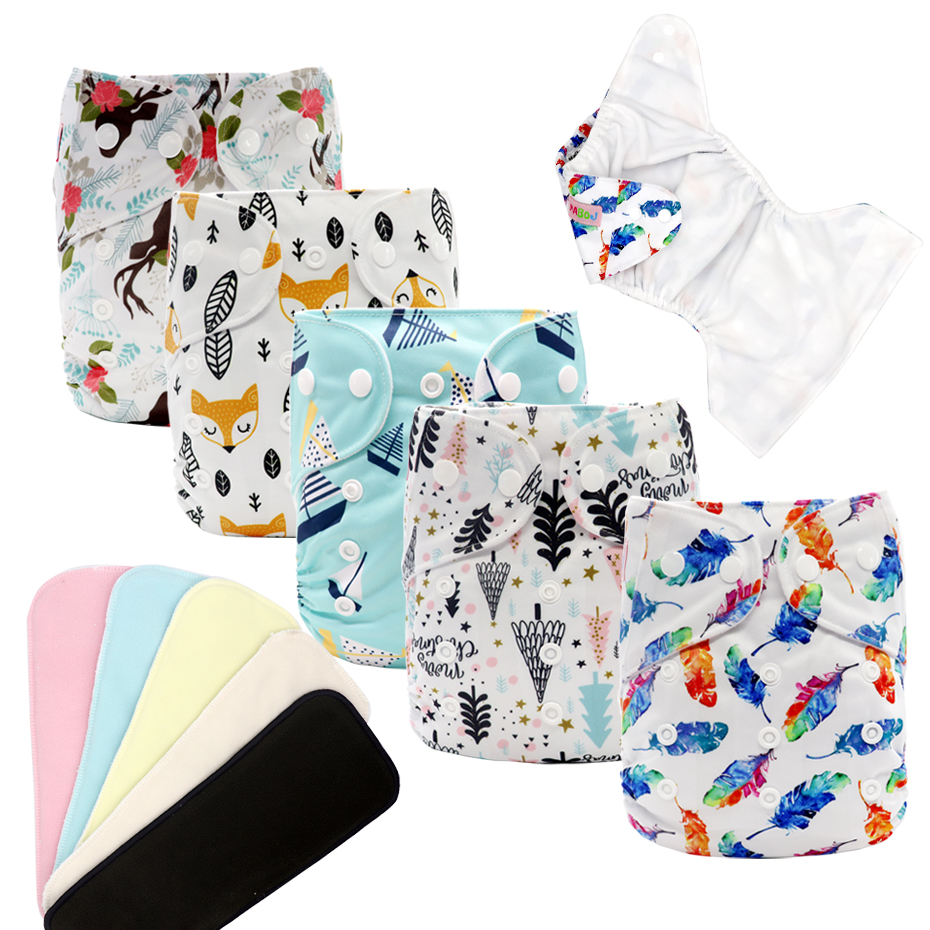 MABOJ Cloth Diaper Reusable Waterproof Digital Printed Baby Cloth Diaper One Size Pocket Baby Nappies Wholesale Fit For 3-15kg