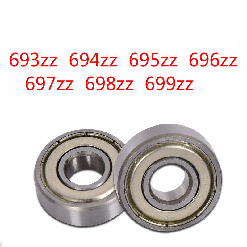 2pcs Deep Groove Ball Bearing 693zz 694zz 695zz 696zz 697zz 698zz 699zz Miniature Bearing Model Small Bearing High Quality image