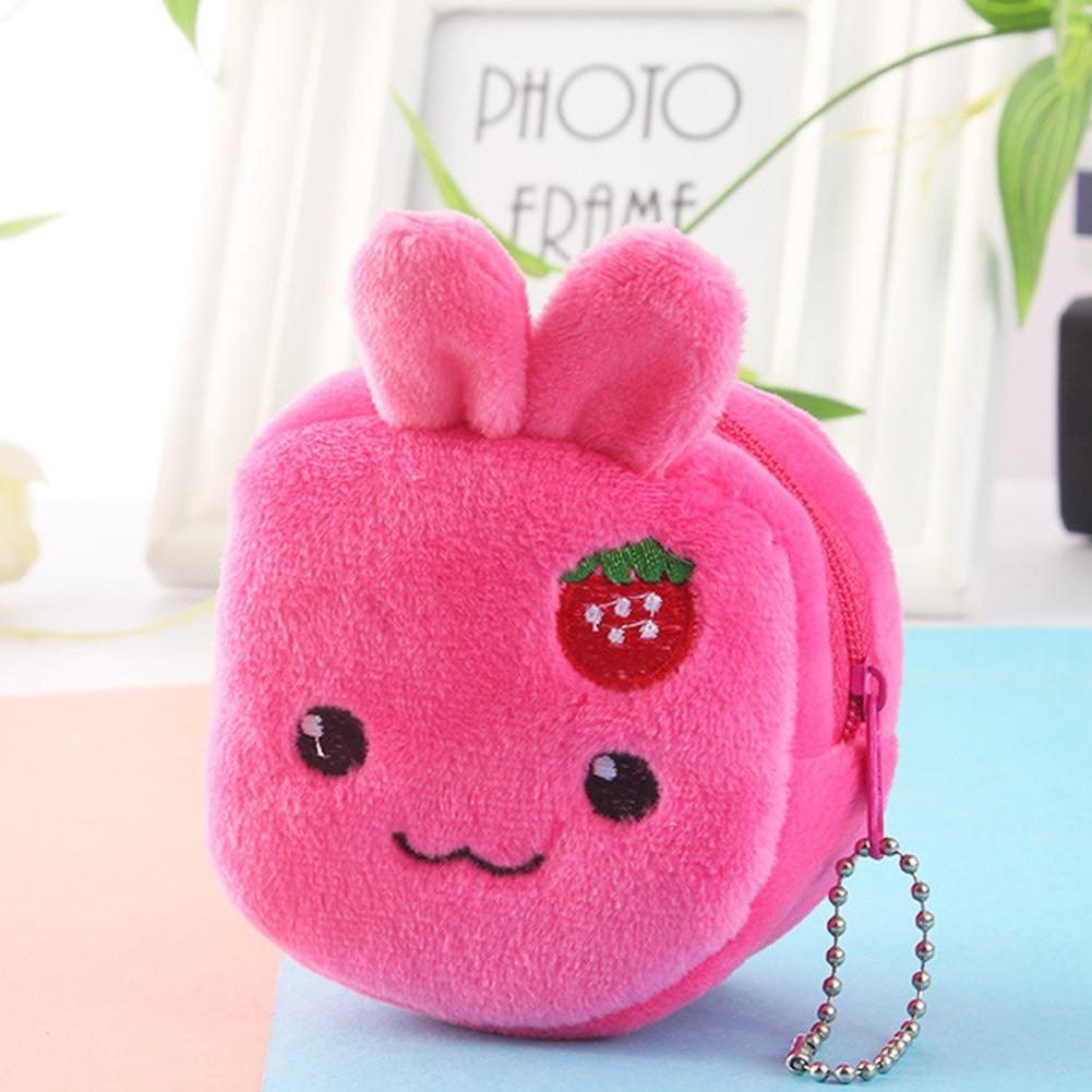 Cartoon Coin Girls Purse Money-Bag Gift Zipper-Key Plush Mini Portable Cute Soft Stereo