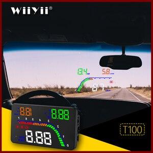Image 1 - GEYUREN A100s T100 OBD car hud head up head up display 2019 temperature gauge obd Overspeed Warning System Projector Windshield