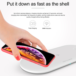 Image 2 - 3 in 1 Qi Wireless Charger Pad for iPhone 11 pro X XS Max XR for Apple Watch 4 3 2 for Airpods 10W Fast Charge For Samsung S10