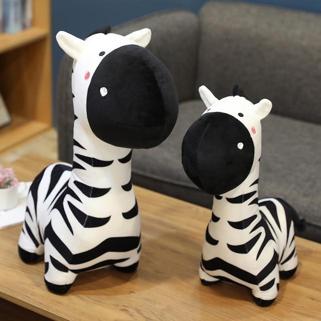 40/50/70cm Standing Cartoon Zebra Plush Toy Black On White Stuffed Animal Doll Boys Girls Birthday Present 2