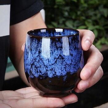 Taza japonesa, taza de té de cerámica, tazón de té Vintage pigmentado, tazas de agua maestros de 150ml, recipiente para té, tazas de café artesanales