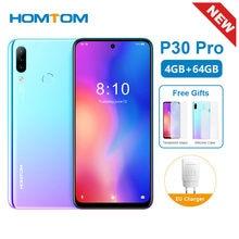 Original nouveau HOMTOM P30 Pro 6.41 pouces Android 9.0 téléphone portable MT6763 Octa Core 4GB 64GB arrière 13MP Triple caméras Smartphone