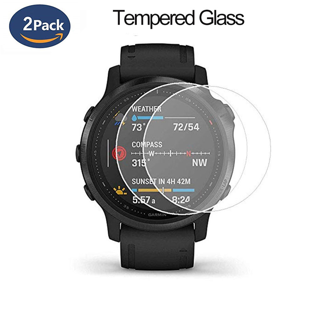2pcs Protective For Garmin Fenix 5 5s Plus 6S 6X 6 Pro Ultra Clear Tempered Glass Film Guard Premium Screen Protector Wat