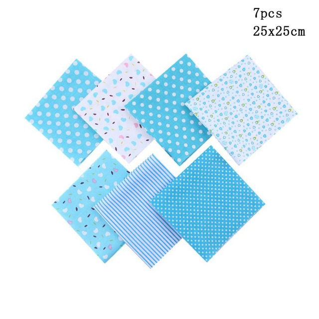 >Ultimate DealCloth Quilting-Fabric for Patchwork Needlework DIY Dolls Handmade-Accessories 7pcs 25x25cm