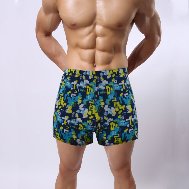 Fei Yue Top Grade Elastic Men AussieBum Fancy Swimming Trunks Plus-sized Men's Swimming Trunks 5231