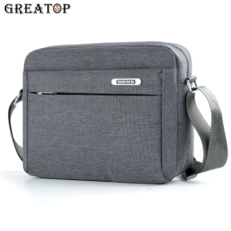 GREATOP 3 Colors Men Business Shoulder Bags Fashion Waterproof Nylon Messenger Bags Casual Male Crossbody Bag for Pad Y0025