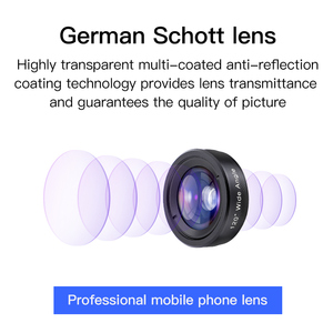Image 2 - KUULAA 4K HD Cell Phone Camera Lens Kit 3 in 1 Wide Angle lens Macro Fisheye Lenses For iPhone 11 Pro Max Huawei P20 Pro Samsung