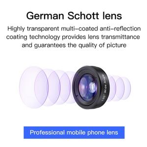 Image 2 - Камера для мобильного телефона KUULAA 4K HD, комплект объективов 3 в 1, широкоугольный объектив, макрообъектив «рыбий глаз» для iPhone 11 Pro Max Huawei P20 Pro Samsung