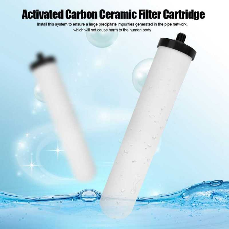 2 ピース/セット 10 インチセラミックフィルターカートリッジ洗える活性炭浄水器交換用ユニバーサルシャワーシステム Bathroo