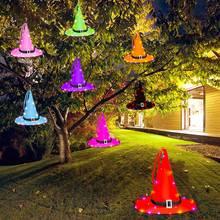 8 цветов ведьмы Хэллоуин Открытый Декор огни на батарейках висит