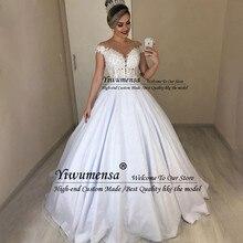 Сексуальное прозрачное свадебное платье размера плюс, бальное платье с аппликацией, свадебные платья на заказ, кружевное свадебное платье