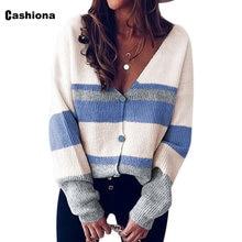 Женский Осенний новый вязаный свитер женский разноцветный джемпер