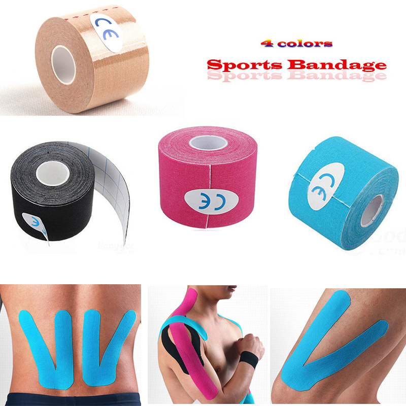 Athletic Kinesiology Tape Sport Recovery Bandage Cotton Waterproof Running Knee Fitness Tennis Football Muscle Sticker Protector