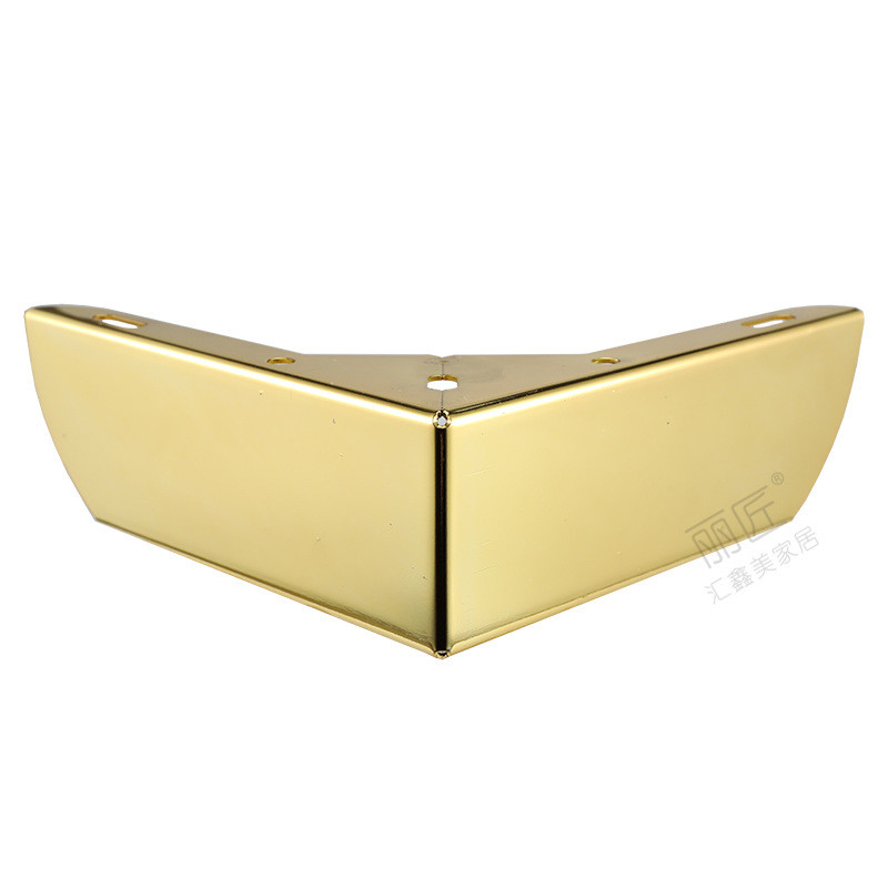 4pcs Gold Metal Furniture Legs With Rubber Feet Pad Cabinet Table Legs Hardware Sofa Furniture Foot Level
