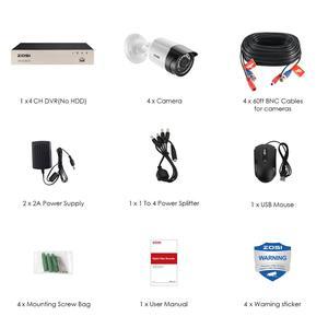 Image 4 - System kamer bezpieczeństwa ZOSI 8CH 1080p H.265 + TVI CCTV DVR z 4x2.0mp kamery bezpieczeństwa zestawy wideo z domu System nadzoru