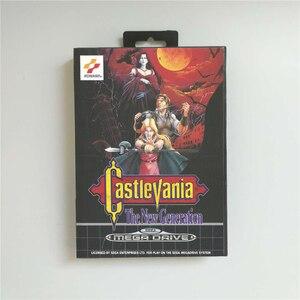 Image 1 - Castlevania הדור החדש EUR כיסוי עם תיבה הקמעונאי 16 קצת MD משחק כרטיס עבור Sega Megadrive בראשית וידאו משחק קונסולה