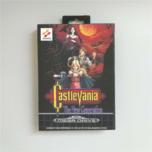 Castlevania The New Generation   EUR Cover With Retail Box 16 Bit MD Game Card for Sega Megadrive Genesis Video Game Console