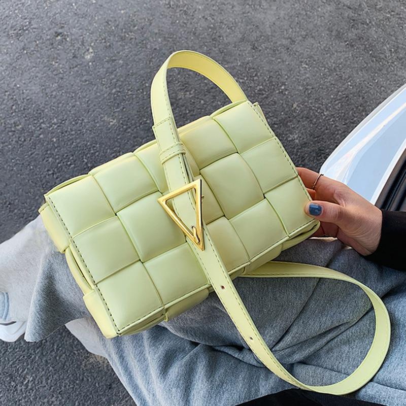 Small Weave Flap Bags For Women 2020 New Good Quality Fashion PU Leather  Shoulder Crossbody Bag Female Summer Handbags