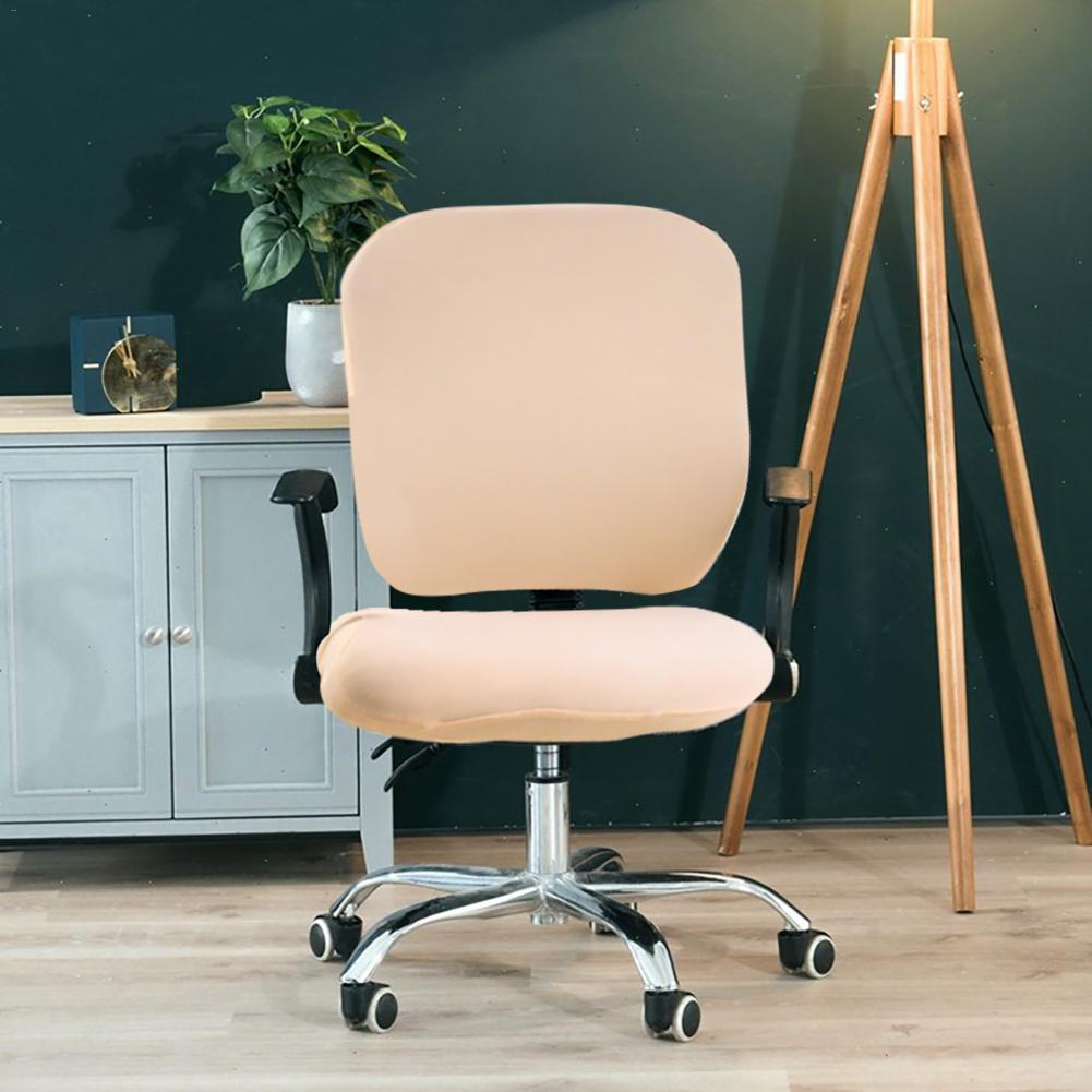Universal Armchair Covers Swivel Computer Chair Covers Stretchable Rotating Chair Protector Home Office Seat Chair Cases in Chair Cover from Home Garden