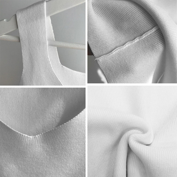 GOPLUS Sexy V Neck Knitted Crop Top Women's Shirt Plus size Tank Top Underwear Top Women Casual Streetwear Clothing For Women 10