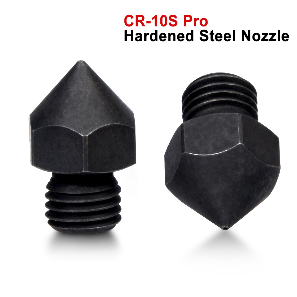 CR-10S Pro Hardened Steel Nozzle M6 Thread 3D Printer Parts For Hotend 1.75MM Filament J-head Cr10S PRO Heat Block Ender 3