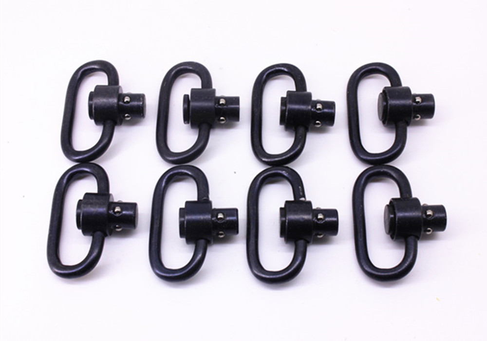 8PCS  Heavy Duty Push Button QD Sling Swivel, 1.25-Inch Loop / Hunting  Guns Swivels Accessories