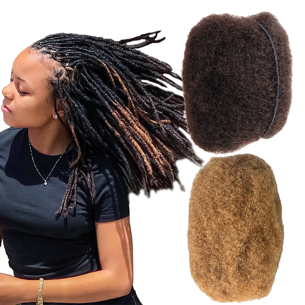 YONNA Tight Afro Kinky Bulk 100% Human Hair For Dreadlocks, Twist Braids Medium Brown And Honey Blonde Weight 4 Ounce 4pcs/lot