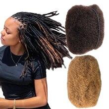 YONNA Tight Afro Kinky Bulk 100% Human Hair For Dreadlocks, Twist Braids Medium Brown and Honey Blonde Weight 4 Ounce 4pcs/lot