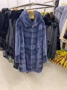Jackets Mink-Coat Real-Fur-Coat Women Natural Fur Long Winter Warm And Wishers Rose Female