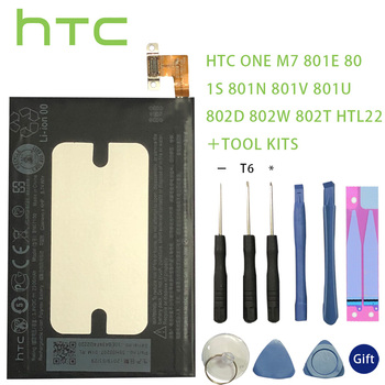 цена на Original HTC BN07100 battery Replacement Li-Polymer For HTC One M7 801E 801S 801N 802D 802W 802T BN07100 HTL22 One J Batteries