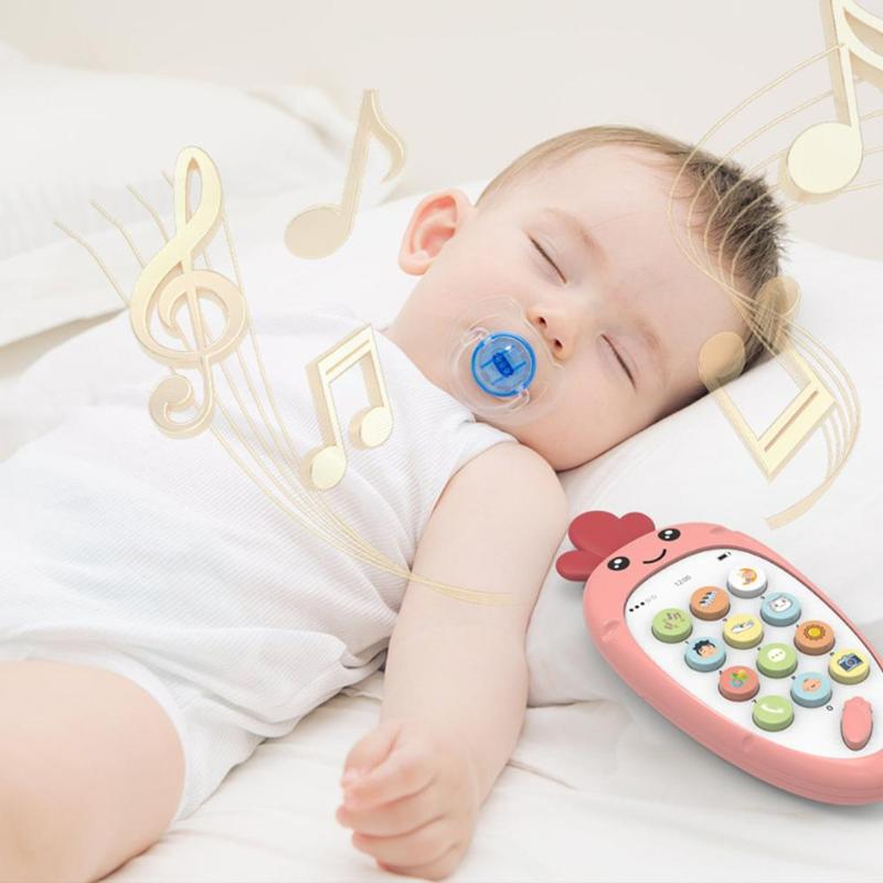 Cartoon Music Telephone Toy Chinese-English Learning Cellphone Baby Sleeping Helper Multi-functional Puzzle Gift